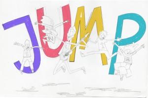 First version of ¡Salta, Salta! illustration