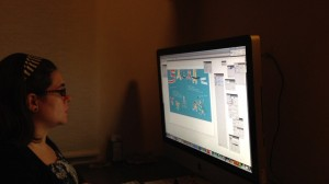 Mónica working on Salta layout